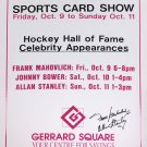 Frank Mahovlich, Allan Stanley Autographed Vintage Sign - Toronto Maple Leafs