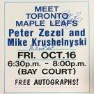 Peter Zezel, Mike Krushelnyski Autographed Vintage Sign - Toronto Maple Leafs