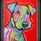 """""""""""Dog into your Heart"""""""" Textured Giclee Print by Dean Russo"""
