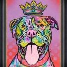 """""Rottweiller"""" Dog Art Giclee Print by Dean Russo - Framed Canvas"