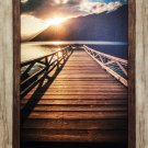 """""""""""Sunset Jetty"""""""" by Danita Delimont in Wood-Style Frame - Canvas"""
