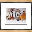 """""""""""Winter Morning In Baie St Paul"""""""" Print By Clarence Gagnon - Framed Canvas"""