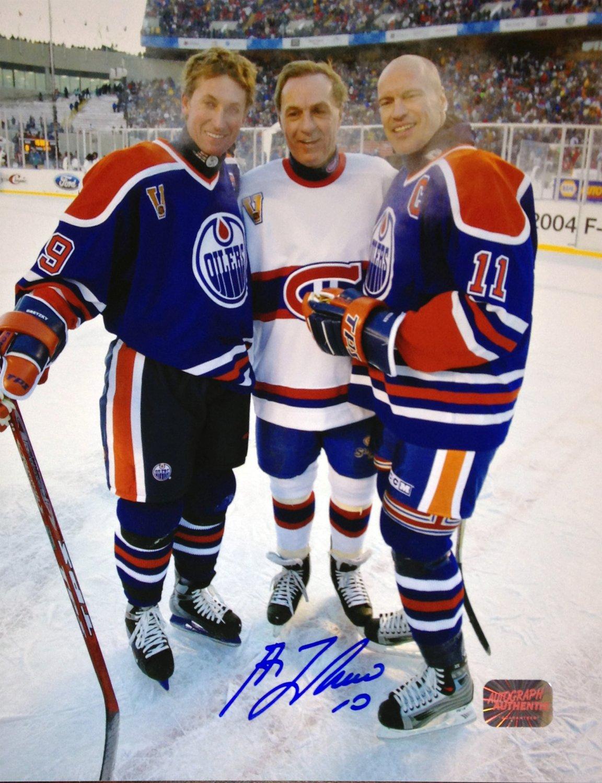 Guy Lafleur, Mark Messier and Wayne Gretzky 8x10 - Montreal - Edmonton