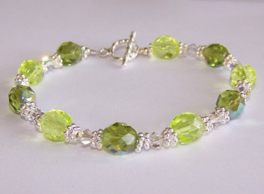 Sunny Meadows Bracelet handmade beaded bracelet by Sapphire Rain Designs
