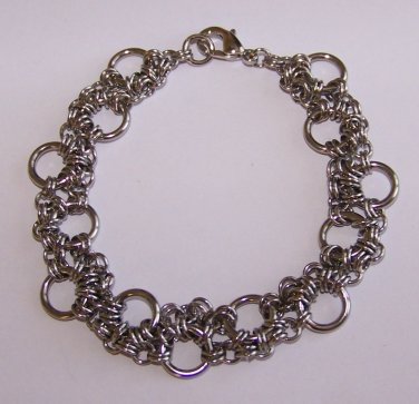 Jumping Hoops Chainmaille Bracelet handmade by Sapphire Rain Designs