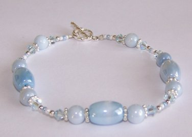 Cloudy Skies Bracelet handmade beaded bracelet by Sapphire Rain Designs