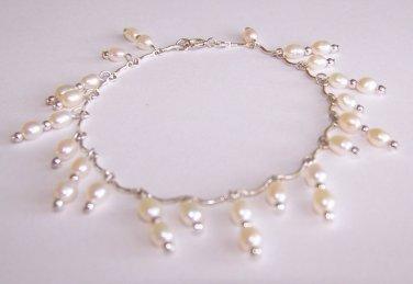 Pearl Drops Bracelet handmade beaded bracelet by Sapphire Rain Designs