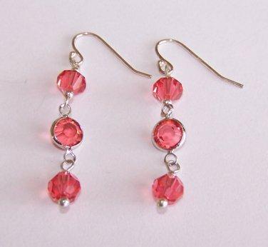 Crystal Links Dangle Earrings handmade beaded earrings by Sapphire Rain Designs