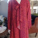 NWT ANN TAYLOR LOFT Printed Tie Front Long Sleeve Shift Dress S