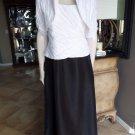 CACHET Black/White Taffeta Gown & Ruched Shrug 2 Pc  Dress 14