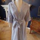 LANE BRYANT Whit/Blue Striped Cotton Blend Button Front Shirt Dress 22W