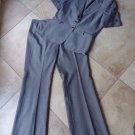 TAHARI Gray Classic  Short Sleeve Blazer And Pant Suit 14