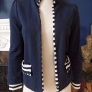 MARC JACOBS Reversible Solid Navy and Stripped Jersey Cardigan Blazer S