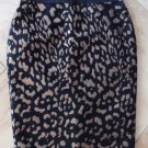 ANN TAYLOR Black/Copper Metallic Animal Print Pencil Skirt 4