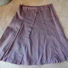 Anthropologie SITWELL mauve 100% Cotton A Line Skirt 10
