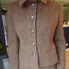 Ralph Lauren Black label Brown Herringbone Wool/Alpaca Tweed Jacket  Blazer 10