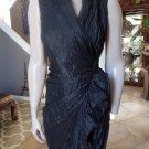 NWT $495 All Saints ALLSAINTS Alloy Ebony Wrap Dress US 4