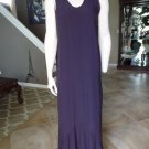 FLAX JEANNE ENGELHART Plum Maxi Dress S