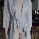 Anthropologie CANTANNIER 100% Linen Belted Draped Open Front Blazer Jacket S