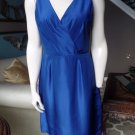 J CREW Royal Blue 100% Silk Cocktail Sheath Dress 8