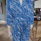 ANNE KLEIN Printed 3/4 Sleeve Jersey Stretch Sheath Dress M