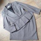 CALVIN KLEIN Black Checked Peplum Blazer & Straight Skirt Suit 10/12