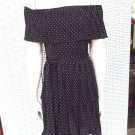 WHITE HOUSE BLACK MARKET Polka Dot Off Shoulder Pleated Jersey Sheath Dress XXS