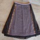ANTHROPOLOGIE ELEVENSES Beaded Lace Detail Tweed Slight A Line Skirt 4