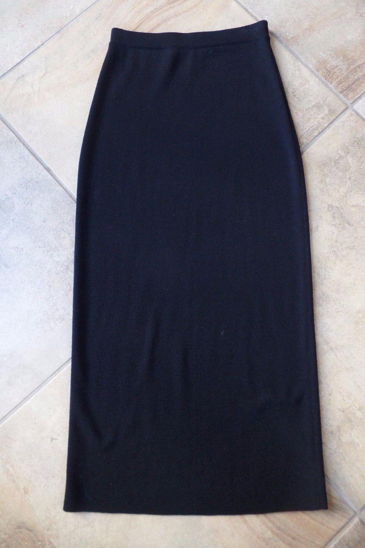 EILEEN FISHER 100% Wool  Midi Maxi Length Straight Sweater  Skirt XS