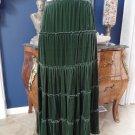 JONNY WAS Forest Green Velvet Midi Length A Line Skirt M