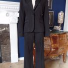 EXPRESS Black/Pink Pinstriped Trouser Pants and Classic Blazer Suit 10/6