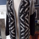 WEEKEND MAX MARA Printed Open Front Long Sleeve Cardigan Sweater XL