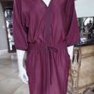 BCBG MAX AZRIA Burgandy Kimono Shift Dress M