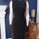 TALBOTS Black Sleeveless Midi Wool Blend Sheath Dress 4