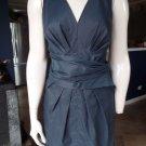 DKNY DONNA KARAN Navy Sleeveless Wrap Waist Sheath Dress 6