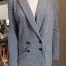 J CREW Gray Felted 100% Wool Double Breasted Jacket Blazer 2