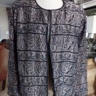 NWT ADRIANNA PAPELL Beaded Evening Cocktail Jacket Blazer 2X