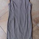 ZARA Black/White Houndstooth Cap Sleeve Sheath Dress L