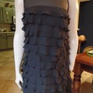 MARC BY MARC JACOBS Black Layered Ruffle 100% Silk Sift Dress 6