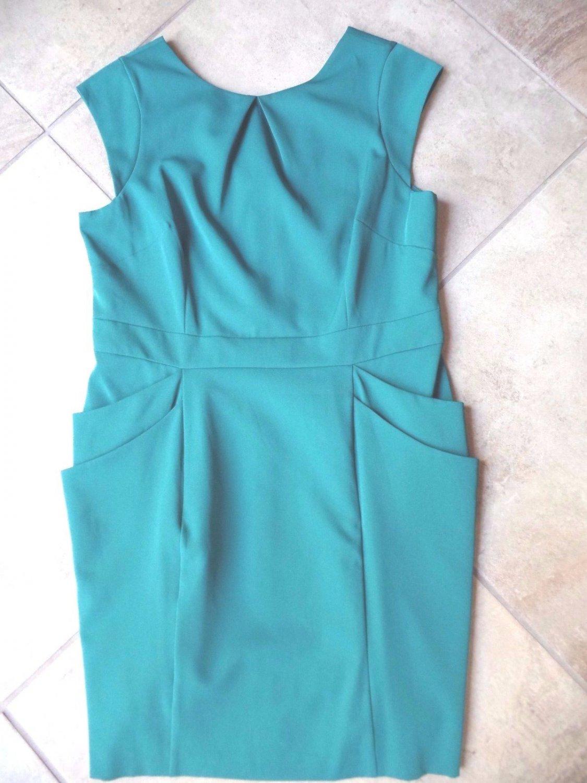 NWT DOROTHY PERKINS Green Classic Sheath Dress UK 18