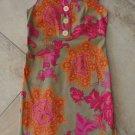 TAYLOR Printed Gold Button Sleeveless Sheath Dress 2
