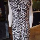 CALVIN KLEIN Animal Print Short Sleeve Snap Front Shirt  Sheath Dress 10
