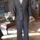 LIMITED Gray Classic 3/4 Sleeve Blazer And Dew Fit Pant Suit 8R M