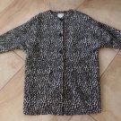 CHARLES GRAY Animal Print Vintage Style Wool Blend 3/4 Length Car Coat Jacket L