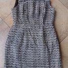 J CREW Black/white Tweed Sleeveless Sheath Dress 8