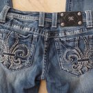 MISS ME Floridly Embroidered  Boot Cut Leg Jeans 25