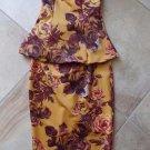 ASOS Strapless Floral Peplum Midi Length Sheath Dress 6