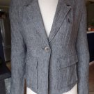 VINCE Grey Linen Blend Classic Jacket Blazer 4
