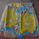 Tracy Feith For Target  Floral Pink Blue Yellow Canvas  Pockets Mini Skirt 7