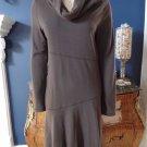 ATHLETA Brown Long Sleeve Stretch Jersey Wool Blend Sheath Dress L Tall